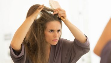 Hair extensions to cover bald spots